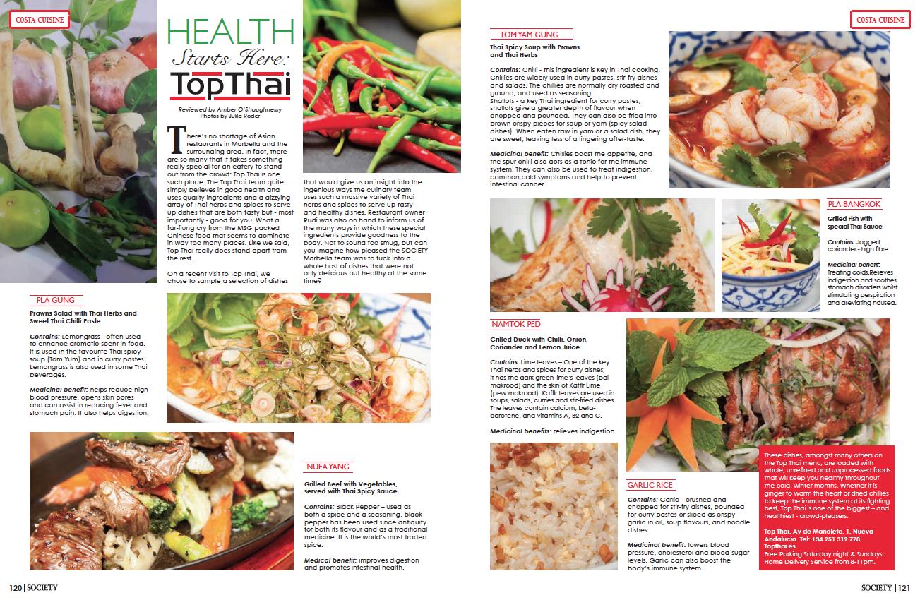 Top thai marbella food photography
